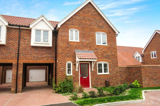 Thumbnail Link-detached house for sale in Mildenhall Road, West Row, Bury St. Edmunds