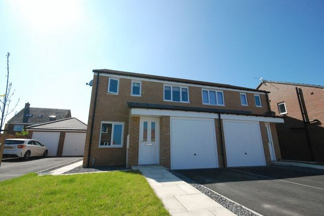 Thumbnail Semi-detached house for sale in Swinley Crescent, Ashington