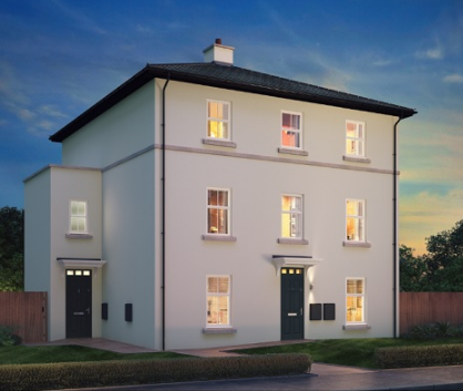 Thumbnail Town house for sale in The Madrid, Resevoir Road, Burton Upon Trent, Staffordshire