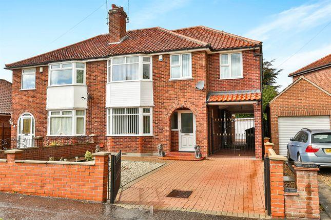 Thumbnail Semi-detached house for sale in Oak Lane, Norwich