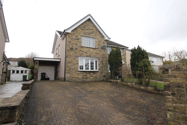 Thumbnail 4 bed semi-detached house for sale in Illingworth Grove, Halifax, West Yorkshire