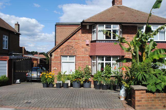 Thumbnail Semi-detached house for sale in Langham Gardens, Grange Park