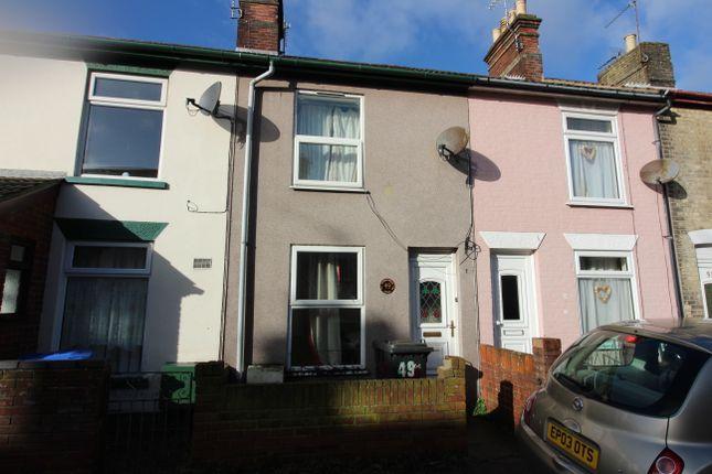 Thumbnail Terraced house to rent in Edinburgh Road, Lowestoft