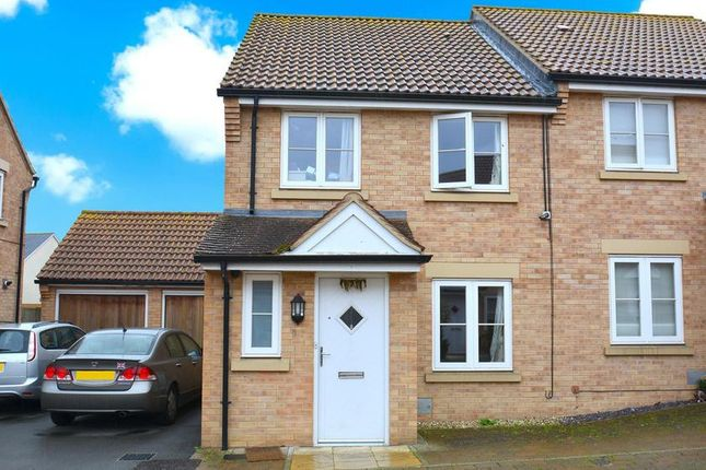 Thumbnail Semi-detached house to rent in Cagney Crescent, Milton Keynes, Buckinghamshire