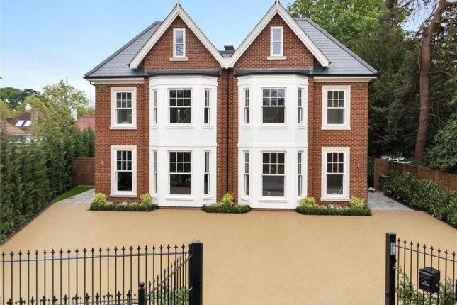 Thumbnail Semi-detached house for sale in Oatlands Drive, Weybridge
