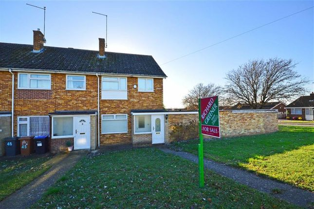 Thumbnail End terrace house for sale in Leyland Drive, Kingsthorpe, Northampton
