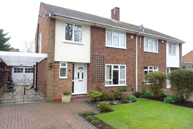 Thumbnail Semi-detached house for sale in Byfleet Road, New Haw