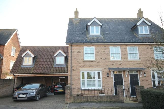 Thumbnail Town house for sale in Little London Gardens, Ely