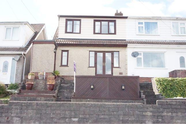 Thumbnail Semi-detached house for sale in Trewyddfa Road, Morriston