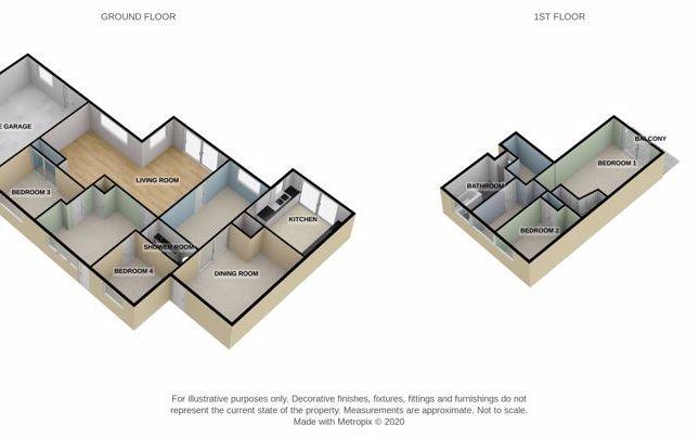 3D Floorplan of Deepway Gardens, Exminster, Exeter EX6