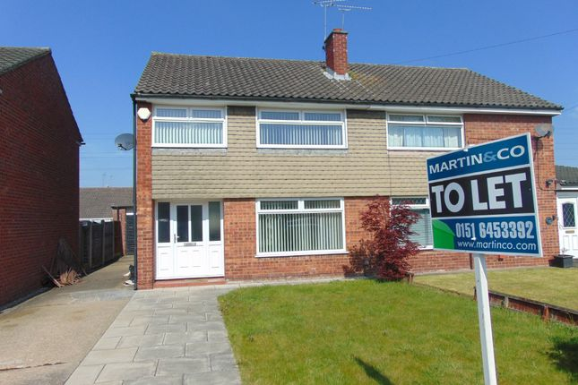Thumbnail Semi-detached house to rent in Lyndale Avenue, Eastham, Wirral