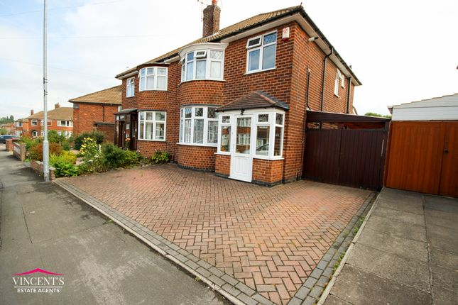 Thumbnail Semi-detached house for sale in Chislehurst Avenue, Leicester