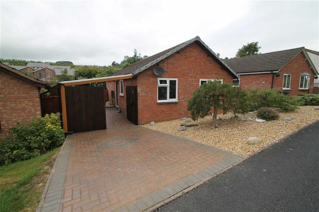 Thumbnail Detached bungalow for sale in Brookfield Road, Welshpool