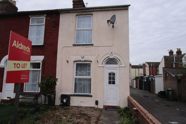 Thumbnail End terrace house to rent in Garfield Road, Great Yarmouth