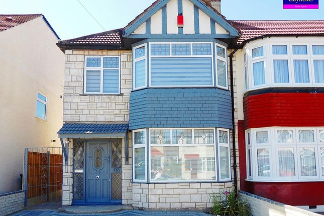 Thumbnail End terrace house for sale in New Park Avenue, Palmers Green