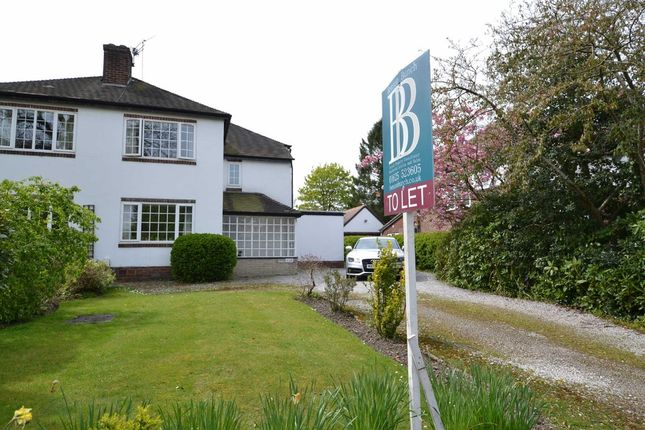 Thumbnail Semi-detached house to rent in Hawthorn Lane, Wilmslow