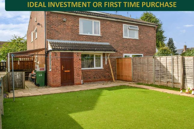 Thumbnail Terraced house for sale in Penney Close, Wigston, Leicester