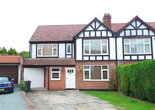 Thumbnail Semi-detached house for sale in Clarence Gardens, Four Oaks, Sutton Coldfield