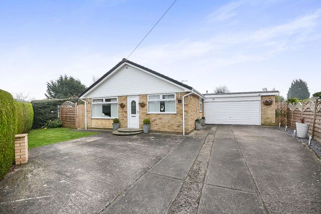 Thumbnail Detached bungalow for sale in Woodcock Close, Haxby, York