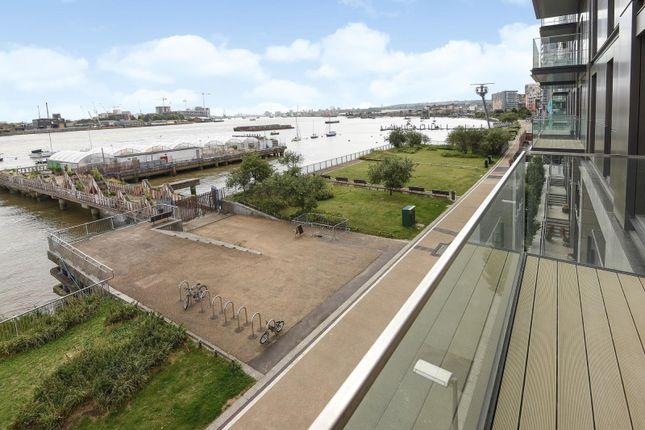 Balcony of Waterman Gardens, Tidemill Square, Lower Riverside, Greenwich Peninsula SE10