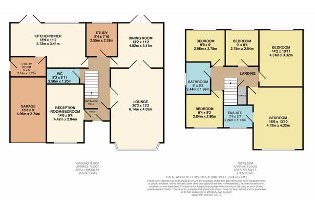 Floor Plan of The Huntings, Kirby Muxloe, Leicester LE9
