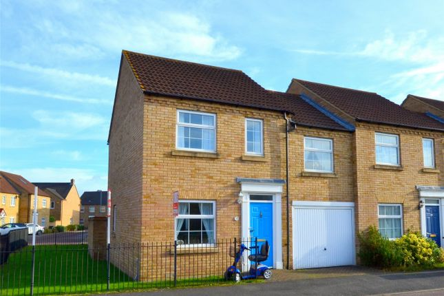 Thumbnail End terrace house for sale in Chapman Way, Eynesbury Manor, St Neots, Cambridgeshire
