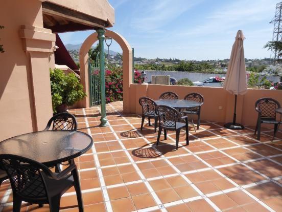 Terrace Bar Area of Mijas Costa, Costa Del Sol, Andalusia, Spain