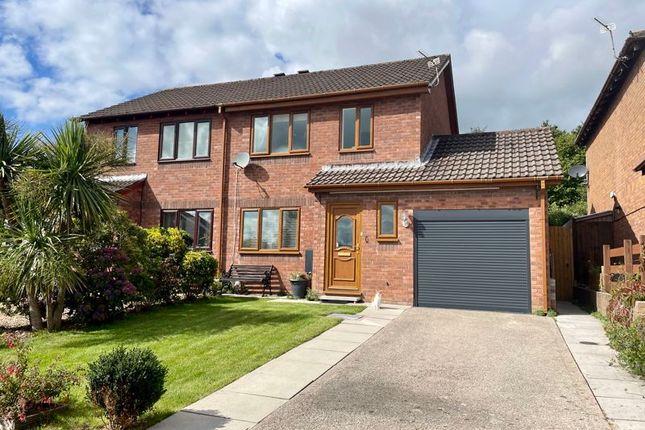 Thumbnail Semi-detached house for sale in Aspen Way, Llantwit Fardre