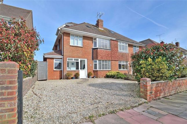 Thumbnail Semi-detached house for sale in Alinora Avenue, Goring By Sea, Worthing