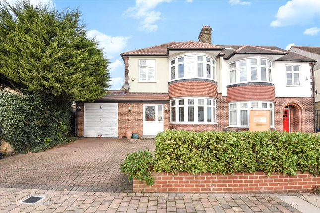 Thumbnail Semi-detached house for sale in Ringwood Way, Winchmore Hill, London