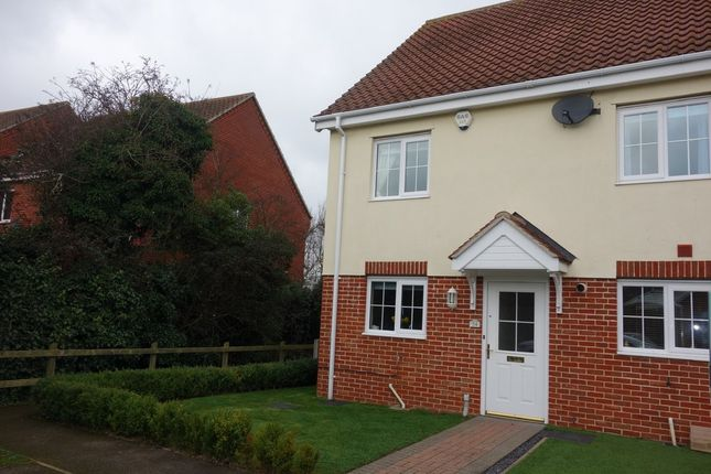 Thumbnail End terrace house for sale in Heritage Close, Kessingland, Lowestoft
