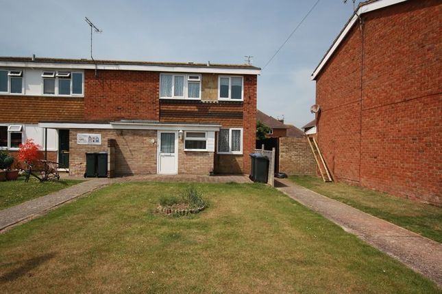 Thumbnail End terrace house for sale in Chippers Close, Worthing