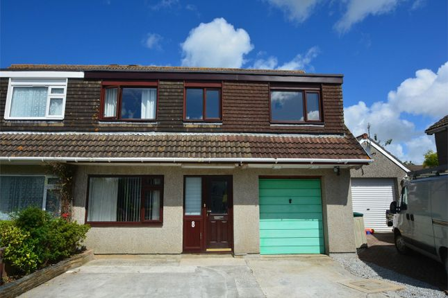 Thumbnail Semi-detached house for sale in Polstain Cresent, Threemilestone, Truro