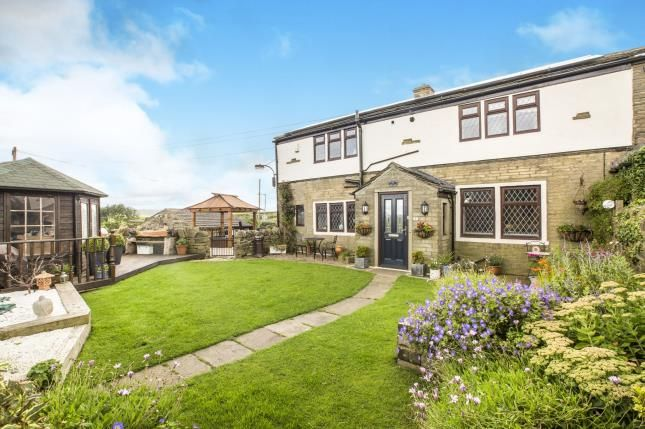 Thumbnail End terrace house for sale in Sunny View Terrace, Ambler Thorn, Queensbury, West Yorkshire