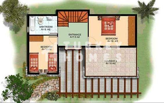Sea View Villa - Gumusluk, Bodrum - First Floor Plan