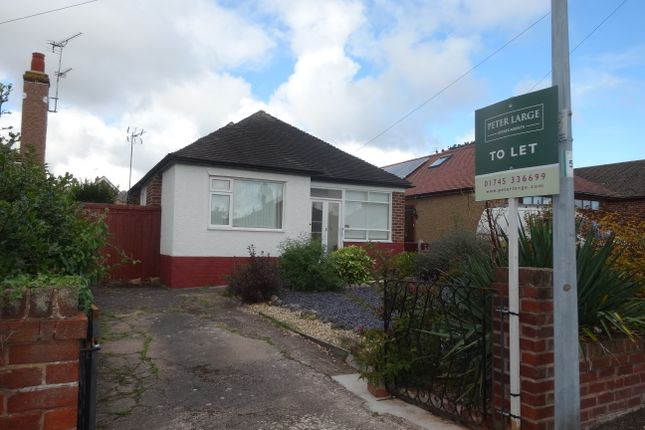 Thumbnail Detached bungalow to rent in South Drive, Rhyl