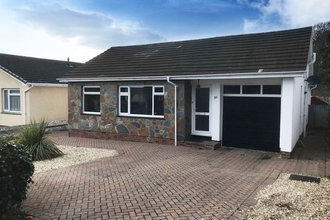 Thumbnail Detached bungalow for sale in Aller Brake Road, Newton Abbot