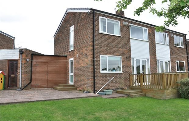 Thumbnail Semi-detached house for sale in Hall Farm Close, Stocksfield, Northumberland.