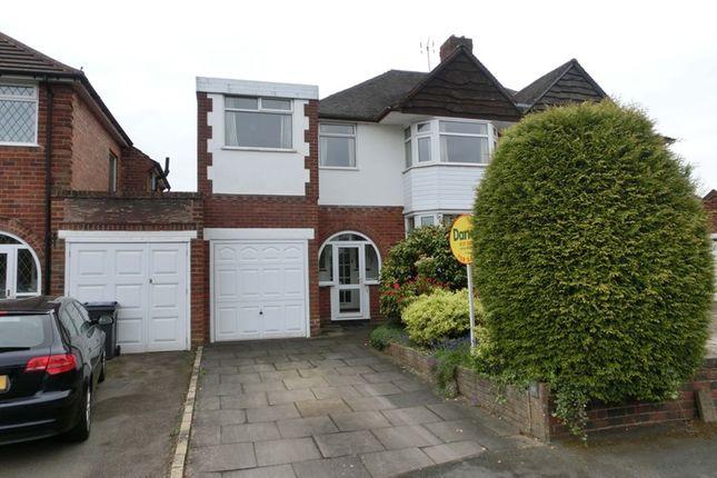 Thumbnail Semi-detached house for sale in Brampton Avenue, Hall Green, Birmingham