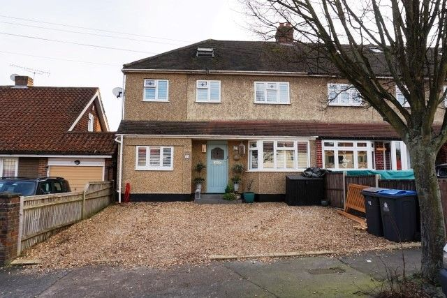 Thumbnail End terrace house for sale in Compton Crescent, Chessington