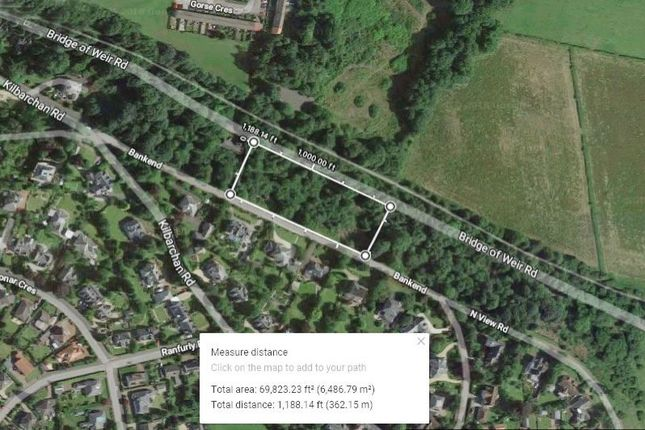 Thumbnail Land for sale in 1.6 Acre Site, Bankend Road, Bridge Of Weir PA113Et