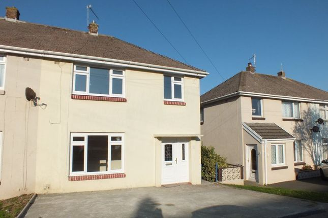 Thumbnail Semi-detached house to rent in Coombes Drive, Milford Haven, Pembrokeshire