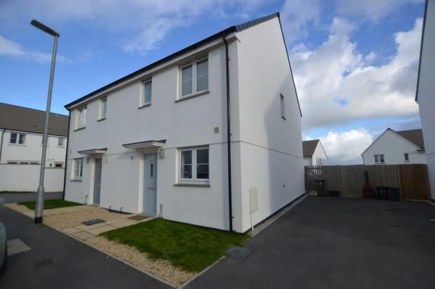 Thumbnail Semi-detached house for sale in Figgy Road, Quintrell Downs, Newquay, Cornwall