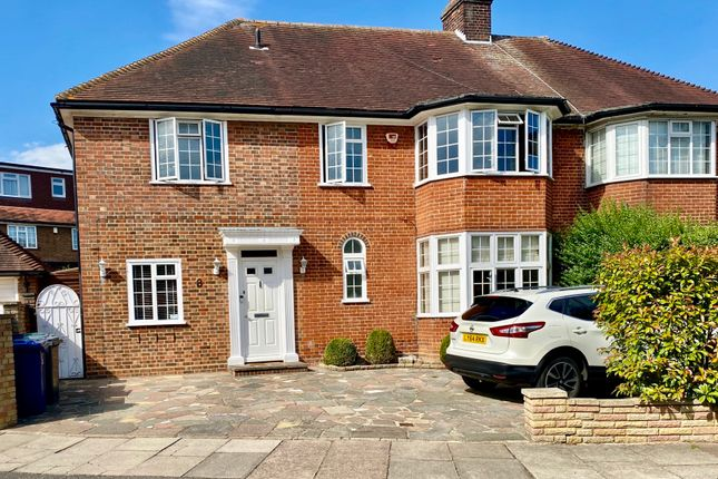 Thumbnail 4 bed semi-detached house for sale in Fairview Way, Edgware, Middlesex