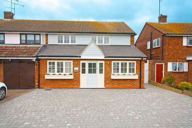 Thumbnail Semi-detached house for sale in Knights Walk, Abridge, Romford