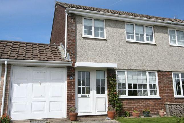Thumbnail Semi-detached house for sale in Eurgan Close, Llantwit Major
