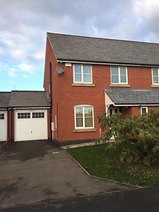 Thumbnail Semi-detached house for sale in Wildgoose Close, Ibstock, Leicester