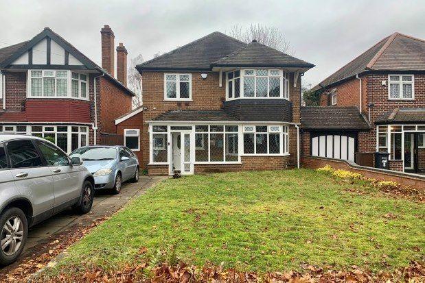 Thumbnail Detached house to rent in Chelmsley Lane, Birmingham