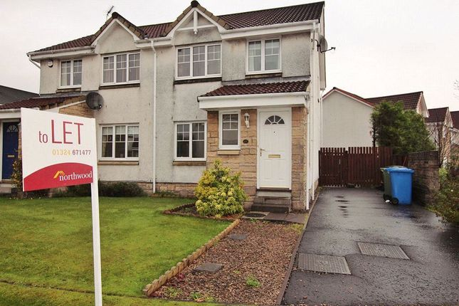 Thumbnail Semi-detached house to rent in Corona Crescent, Bonnybridge