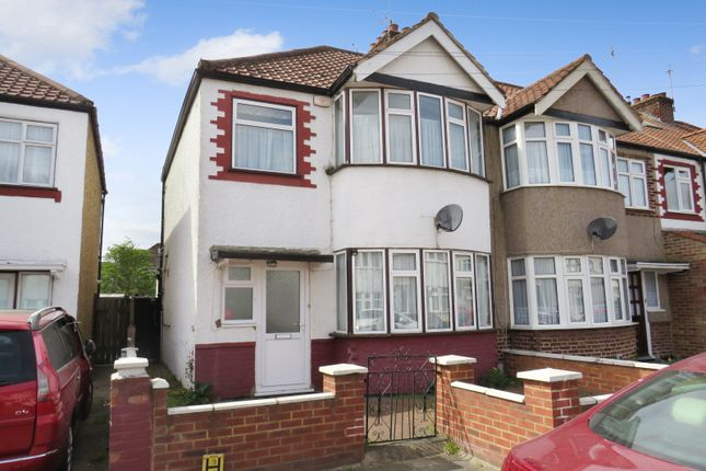Thumbnail End terrace house for sale in Tiverton Road, Wembley, Middlesex
